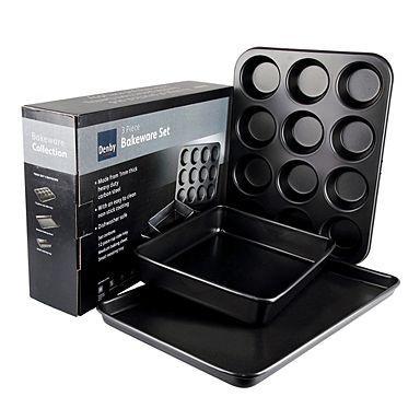 Denby - Black three piece bakeware set - £12 Delivered @ Debenhams