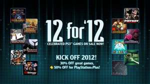 "Playstation 3 ""12 FOR 12' OFFERS INCLUDING 50% OFF PS PLUS"