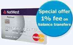 Natwest Platinum Credit Card 13 month 0% - only 1% balance transfers