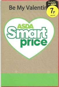 Asda Valentines Day card, only 7p. Because you care.