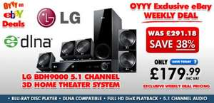 LG BDH9000 5.1 Channel 850W 3D Blu-ray Home Theater System (Div X, Full HD 1080p, Netcast Network) @ (eBay) Oyyy Uk  -  £179.99