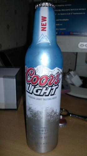 Coors Light Aluminium Bottle 3X450ml £3.00 @ morrisons