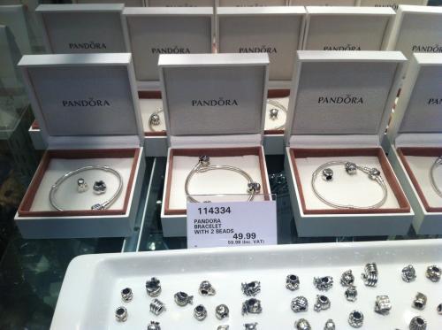 Pandora bracelet with 2 beads - £49.99 + VAT at Costco Bristol