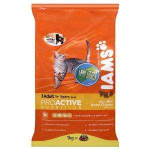 Iams Adult Chicken catfood 1kg bag - £3.00 in store @ Asda