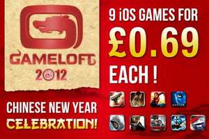 gameloft chinese new year sale, games for 69p itunes