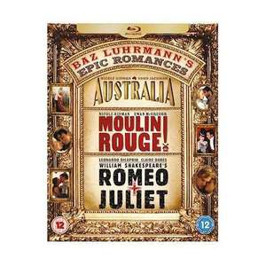 Baz Luhrmann's Epic Romances Box Set : Romeo & Juliet / Moulin Rouge / Australia (3 Discs) (Blu-ray) only £10.89 @ play.com + Quidco!