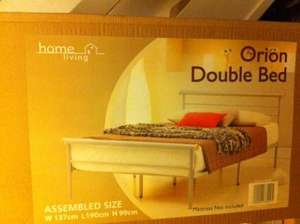 Orion Double Bed (Frame only) £29.99 @ B&M Slough