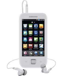 SAMSUNG GALAXY 8GB MP3 AND VIDEO PLAYER - WHITE £83.98 @ Argos Outlet - Ebay