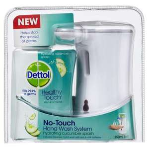 Dettol No Touch Handwash System Half price, use the voucher to get it for £1.98 instore only @ Wilkinson
