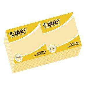 BIC sticky notes (Post-it notes) pack of 100 - 15p Home Bargains