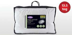 Duck Feather and Down Duvet - Double £22.99 @ Aldi