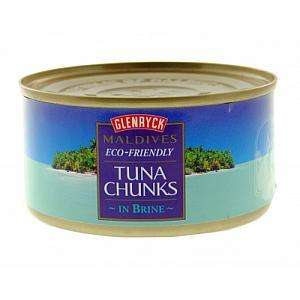 Glenryck Maldives Eco Friendly Tuna Chunks In Brine 185g. approved foods. 5 for a £1