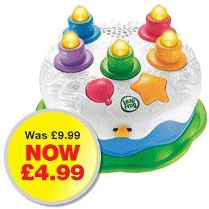 Leapfrog counting candles birthday cake £4.99 in store @Home Bargains or + 2.99 delivered
