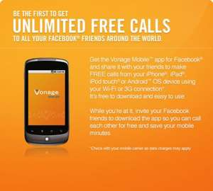 FREE Unlimited call to all Facebbok friends around the world !