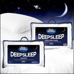 Silentnight Deep Sleep Set - Double or King size Duvet (13.5 tog) & Pillows @ eBay deals (uk-bedding) - £29.99