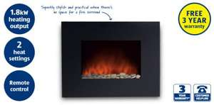 Wall Mounted Fireplace @aldi.  £89.99