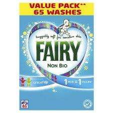 Fairy Non Bio 5.2Kg 65 washes £10 @ Tesco