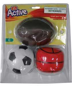 Chad Valley Soft Soccer, Basketball and Rugby Ball Set 99p @ Argos