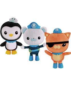 "Octonauts 8"" plush toys (Barnacles, Peso, Kwazii) only £7.97 instore @ Asda"