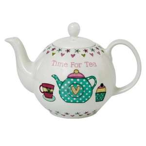 Tesco time for tea fine china teapot was £12 now £4.50  /   tea cup and saucer set avail too was £12.50 now £4.68