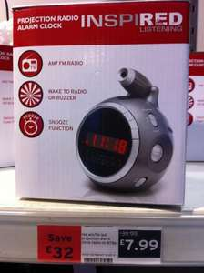 Projection Radio Alarm Clock £7.99 at Sainsburys