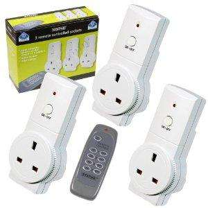 Status 3 remote controlled sockets - £5 @ Asda