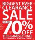 Debenhams Clearance Sale Up to 70% Starts On Wednesday 26th December