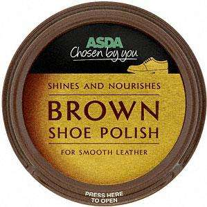Asda Brown Shoe Polish Only 2P instore