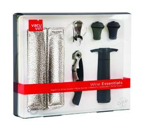 VACU VIN ESSENTIALS WINE SET £6.99 + £1.99 delivery @ Argos Outlet