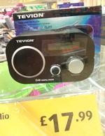 Tevion DAB Radio £17.99 @  Aldi