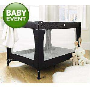 Red Kite Sleeptight Travel Cot - Black £15.00 Instore only @ Asda