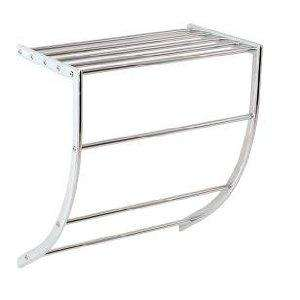 Bathroom Towel Holder Shelf Caddy Rack in Chrome and Steel £4.00  (rrp £15) @ Home Store & More