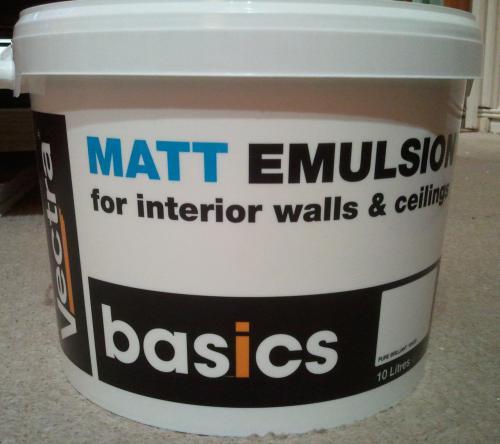 10L Vectra Basics white Matt Emulsion £9 @B&Q instore