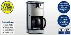 Coffee Maker with Grinder £34.99 @ ALDI INSTORE with 3 Year Warranty!