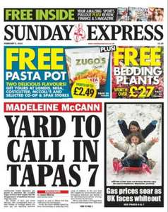 Sunday newspaper offers - see post - Express/ Mail/ Star/ Telegraph/ Mirror/ Times