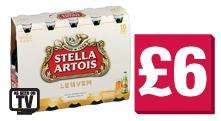 Stella Artois 10x330ml Bottles £6 @ Co-OP