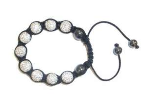 Shamballa-style Bracelet in silver or black - Delivered for only £9.99 from Wowcher