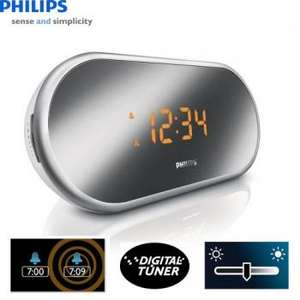 Never be Late Again - Fantastic Mirror Effect Philips Alarm Clock £18.99 use voucher code deal5 for this price @dealtastic