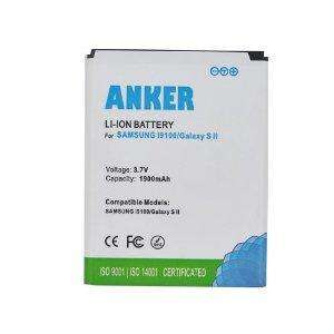 Anker 1900mAh Li-ion Battery for Samsung Galaxy S II Galaxy S2 GT-I9100, i9100, Galaxy S II 9100G, EB-F1A2GBU - White £8.99  LaptopMateUK and Fulfilled by Amazon.