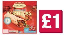 Discovery Mexican Tortillas, Salsa and Fajita Mix £1 @ The Co-operative