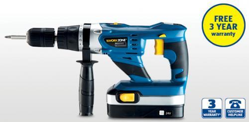 Aldi 24V Cordless Hammer Drill  £44.99