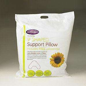 Slumberdown V-Shape Single Pillow - £3.50 was previously £7.00 from Asda (Reserve and collect)