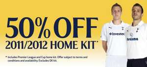 50% OFF TOTTENHAM HOTSPUR 2011/2012 HOME KIT WAS £46 NOW £23!