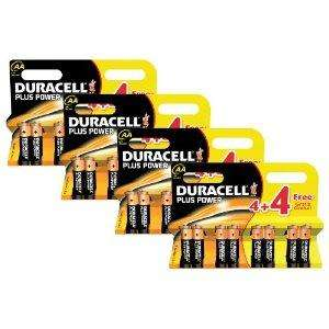 Duracell Plus Power MN1500 Alkaline AA Batteries - 32-Pack £10.99 @Amazon