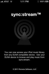 Sync:Stream - Play your iPhone/iPod/iPad music on Xbox 360, PS3 and many more.
