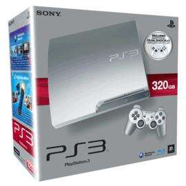Sony Playstation 3 Limited Edition Silver 320GB Slim Console with 2 Dualshock 3 controllers only £199.99 at Gamestation