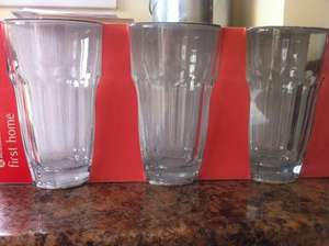3 pack of glass tumblers 67p Instore @ Morrisons