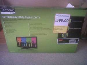 "Tecknika 46"" HD Ready 1080p Digital LCD TV with freeview-Tesco £399"