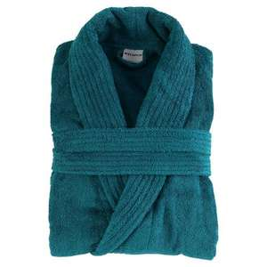 Tesco Direct Finest towelling robe (Teal) - £15 Free to collect or £3 delivery s/m,l/xl