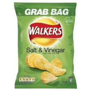 walkers grab bags 20p each or 6 packs for £1 instore @ B&M